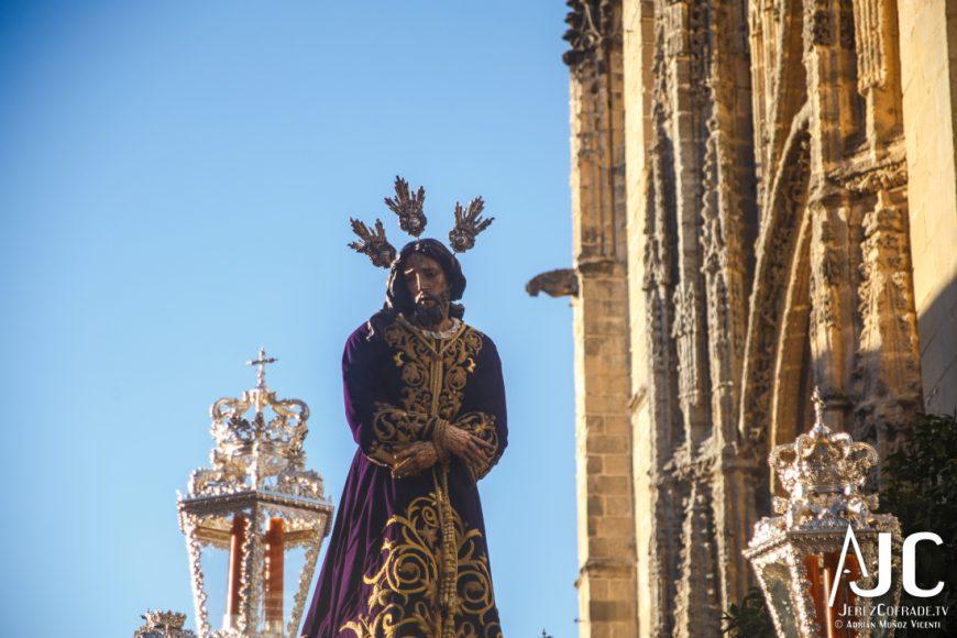 Jesús del Prendimiento, saliendo de Santiago en el Vía Crucis de 2016