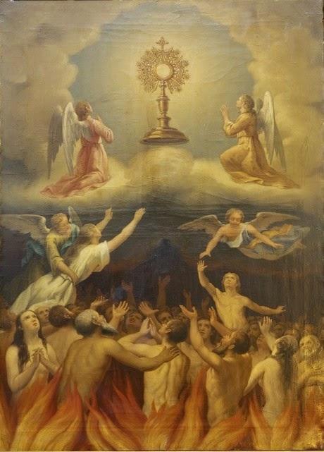 El Santísimo Sacramento como esperanza de las ánimas del Purgatorio