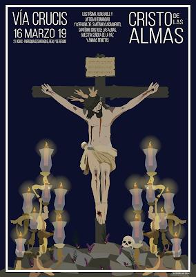 Cartel viacrucis Cristo de las Almas