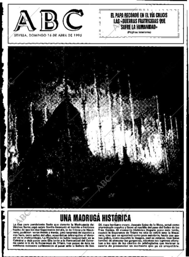 Portada ABC Sevilla 16-04-1995