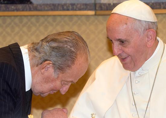 El Rey Juan Carlos I y el Papa Francisco