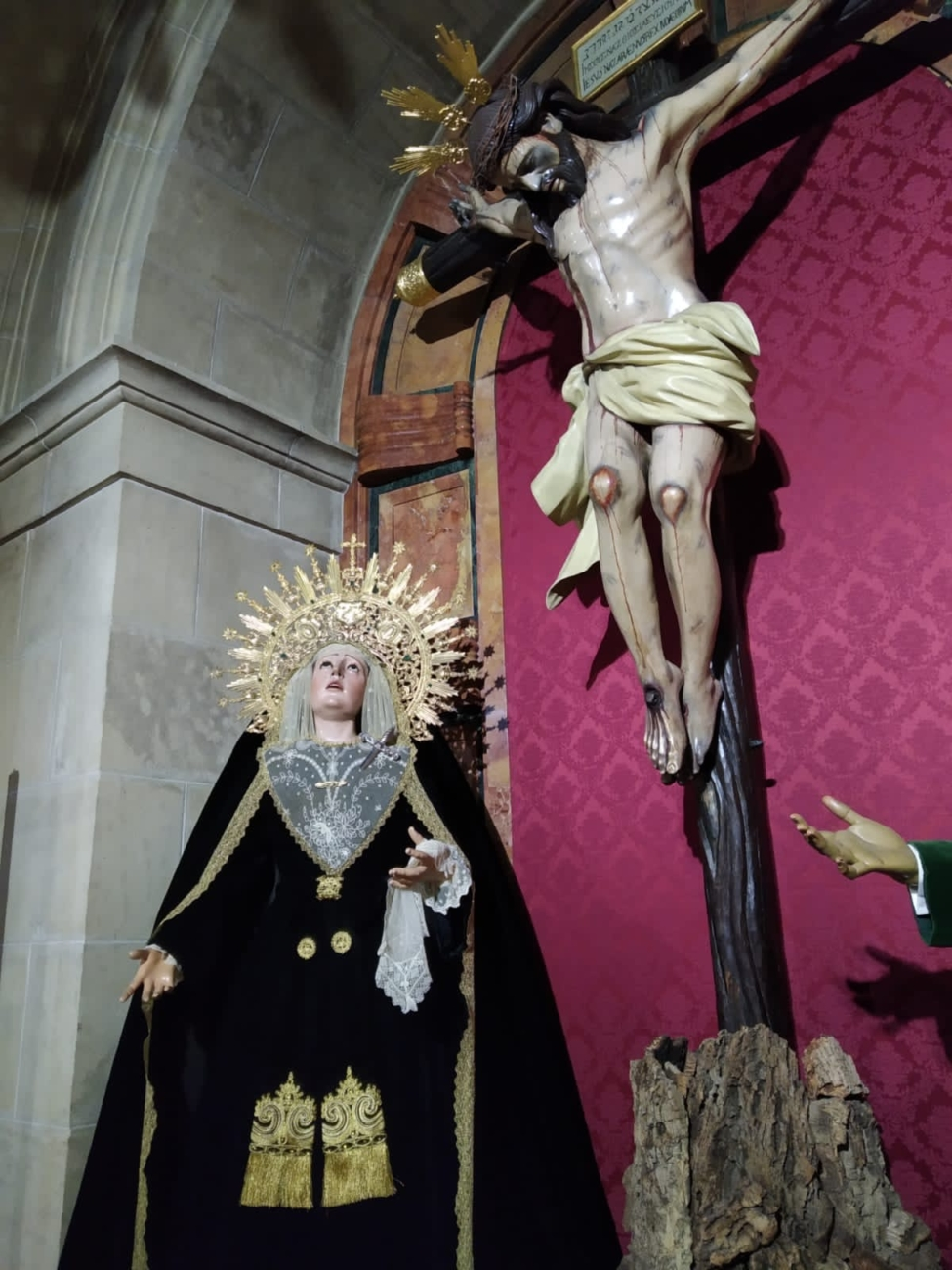 María Santísima de Gracia y Esperanza en luto