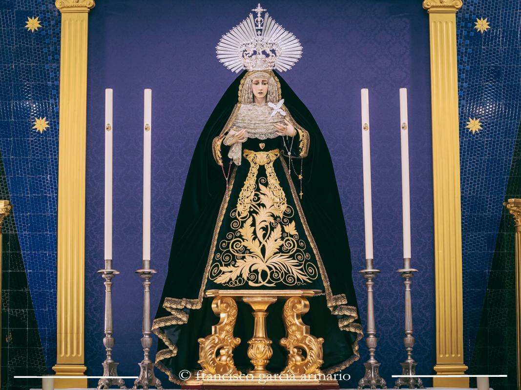 María Santísima de la Concepción Coronada de luto. Fotografía de Francisco García Armario