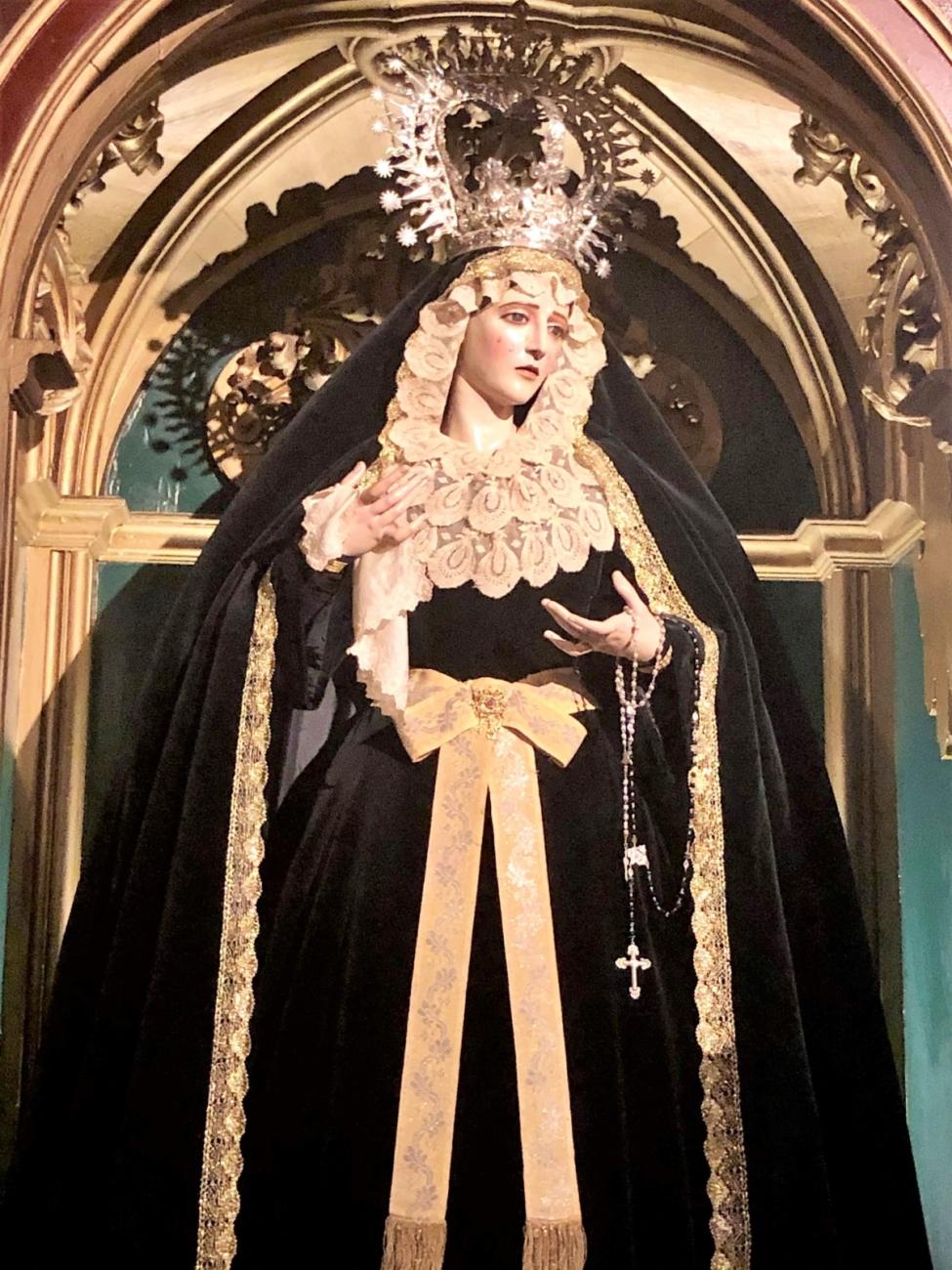 María Santísima de la Confortación de luto