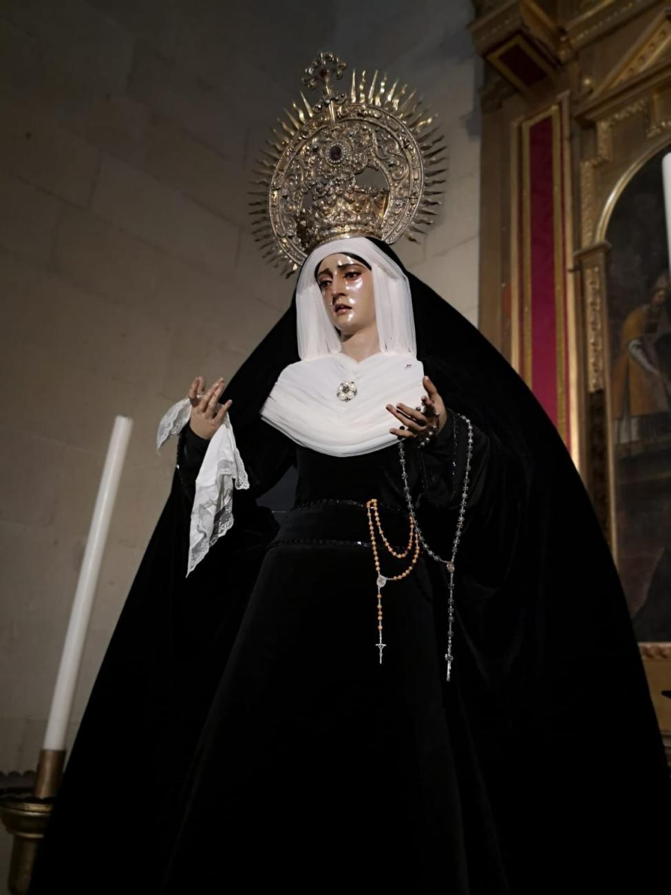 María Santísima del Desamparo de luto