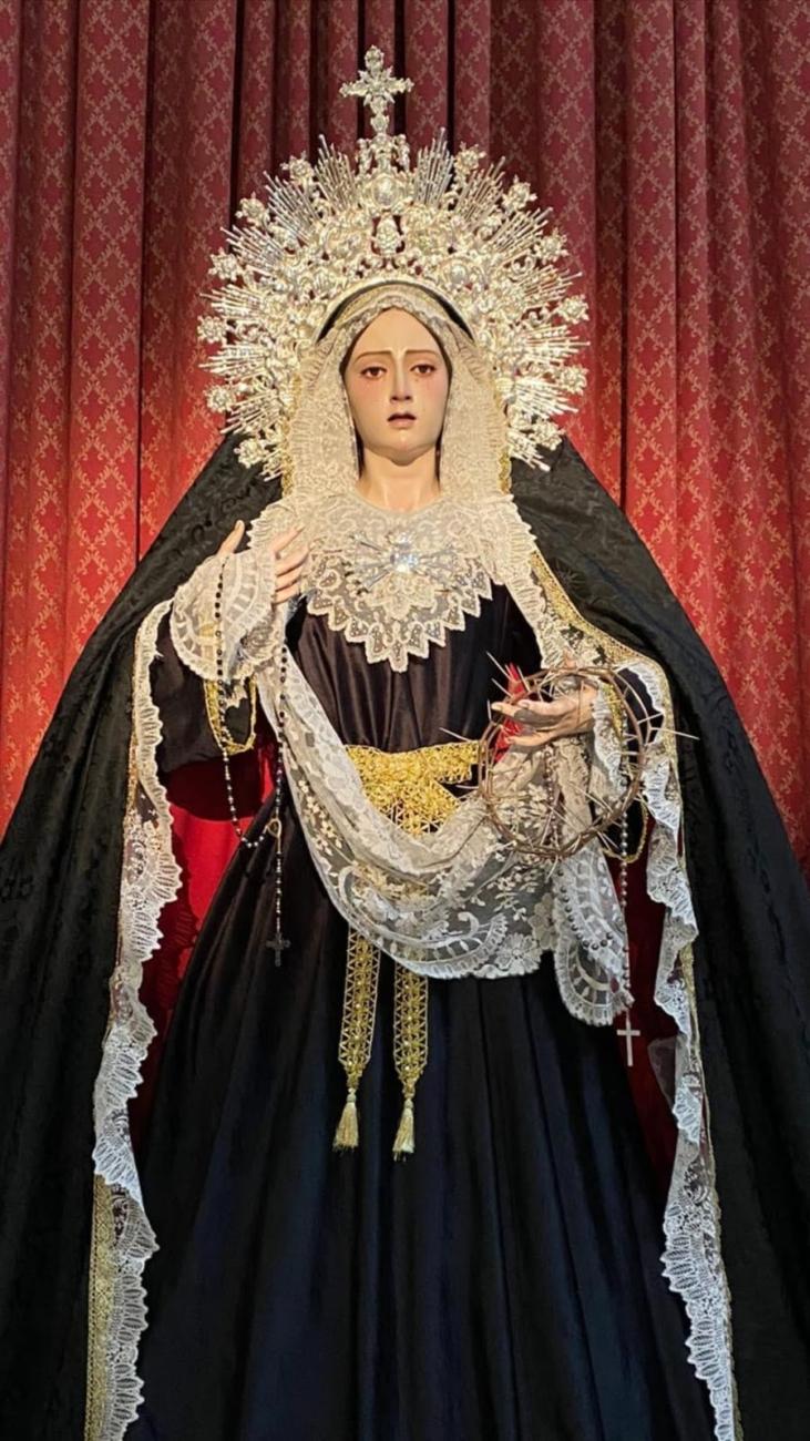 María Santísima del Refugio de los Pecadores de luto