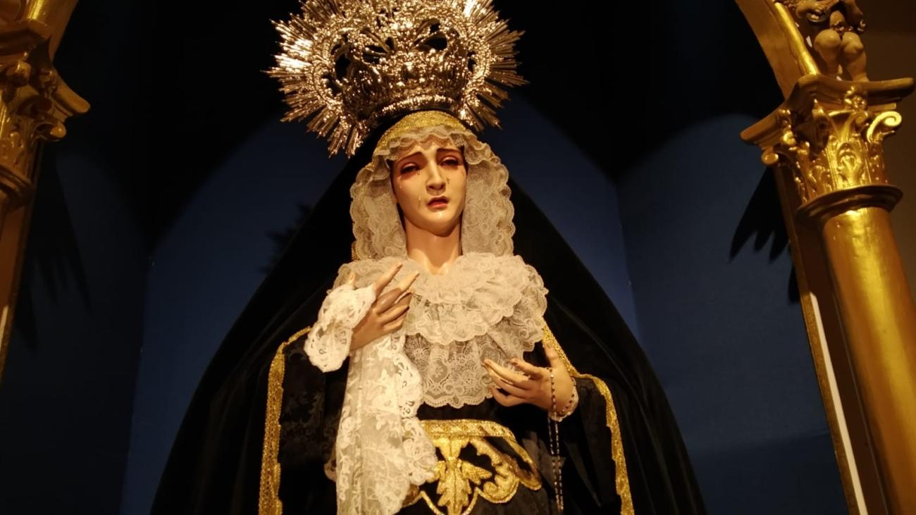 María Santísima del Silencio de luto