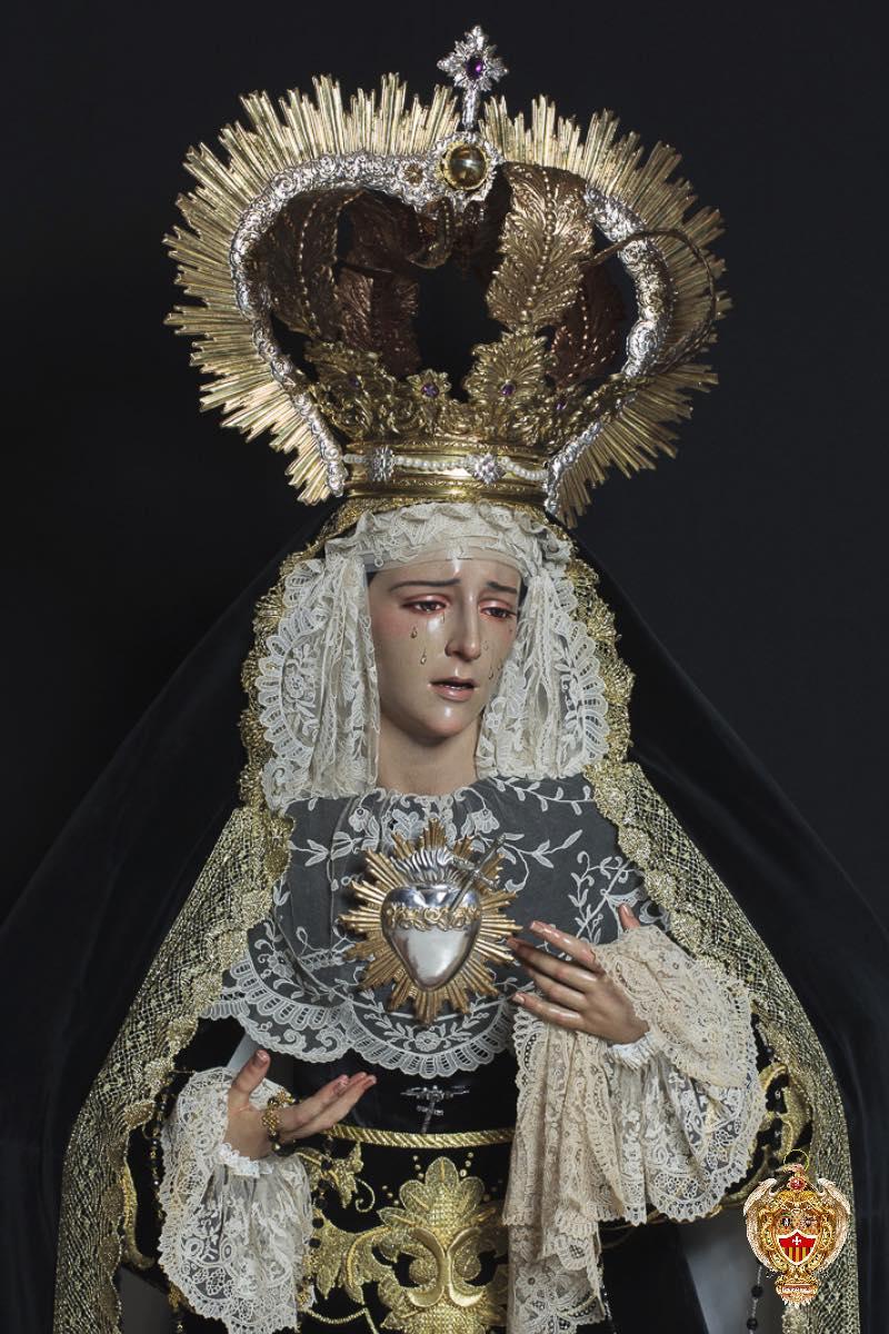 María Stma. de las Mercedes de luto