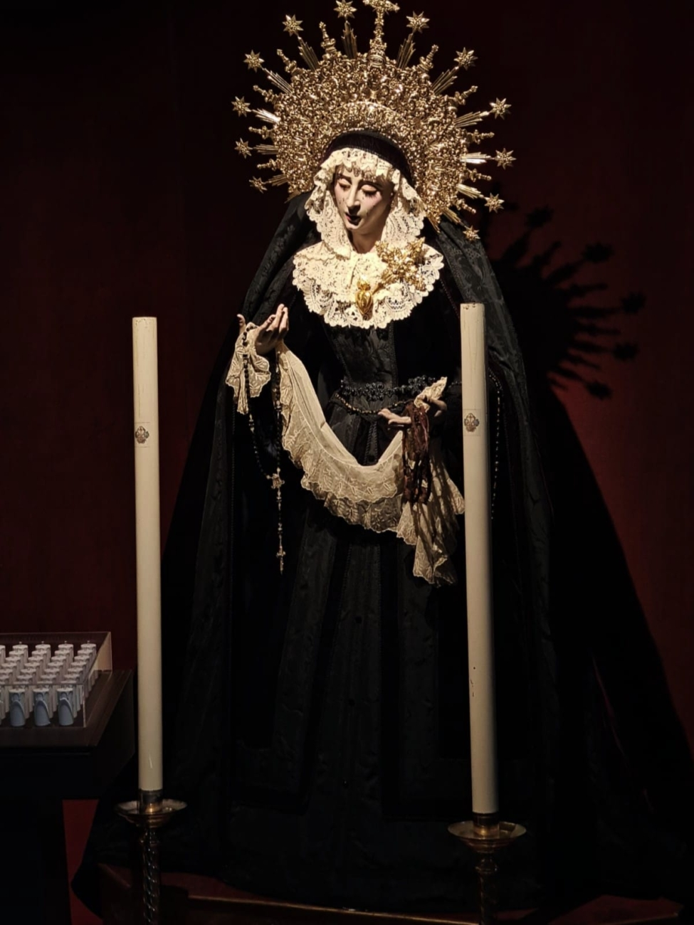 María Stma. del Consuelo de luto