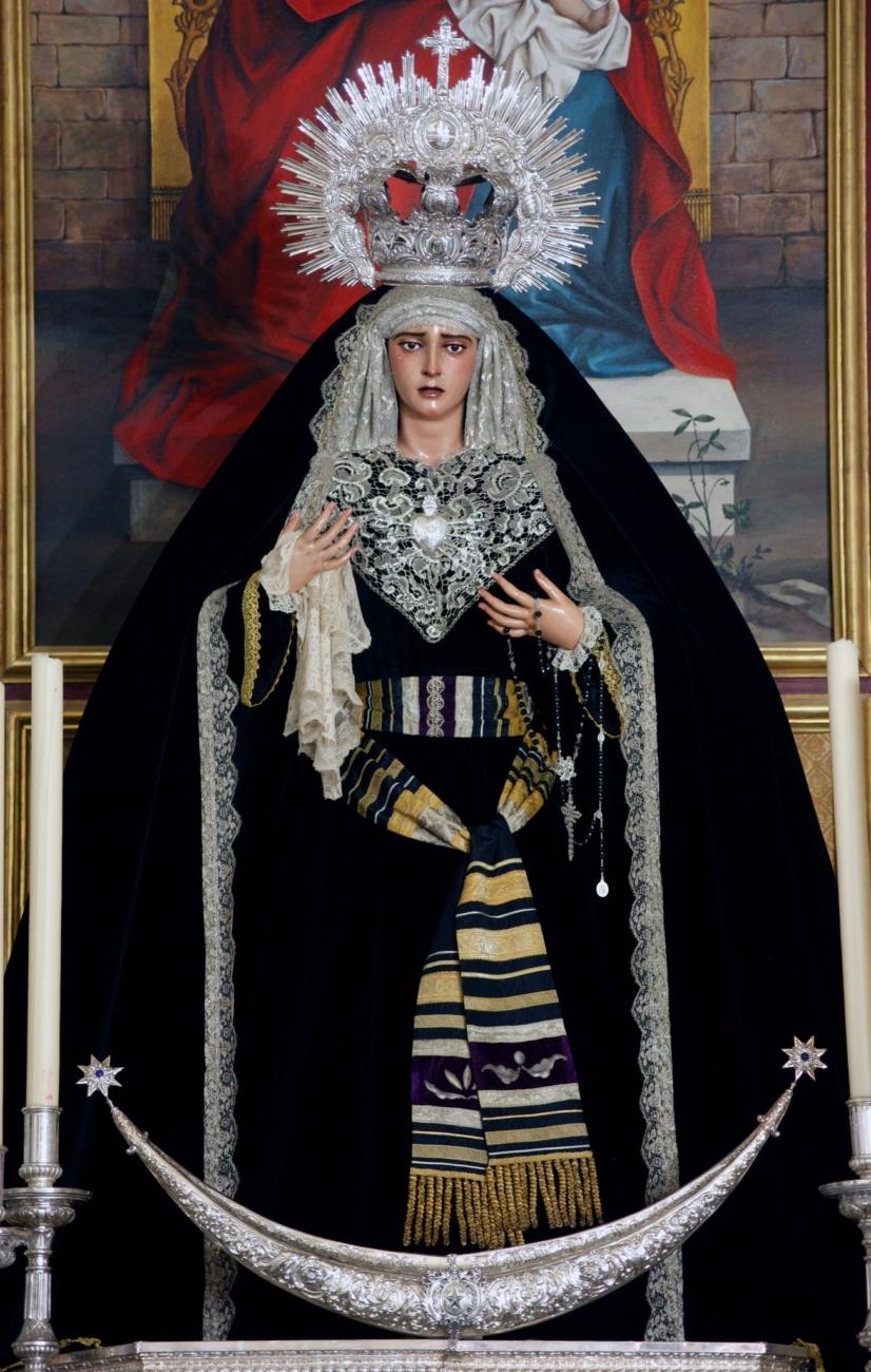Ntra. Sra. de la Estrella de luto. Fotografía de César Díaz