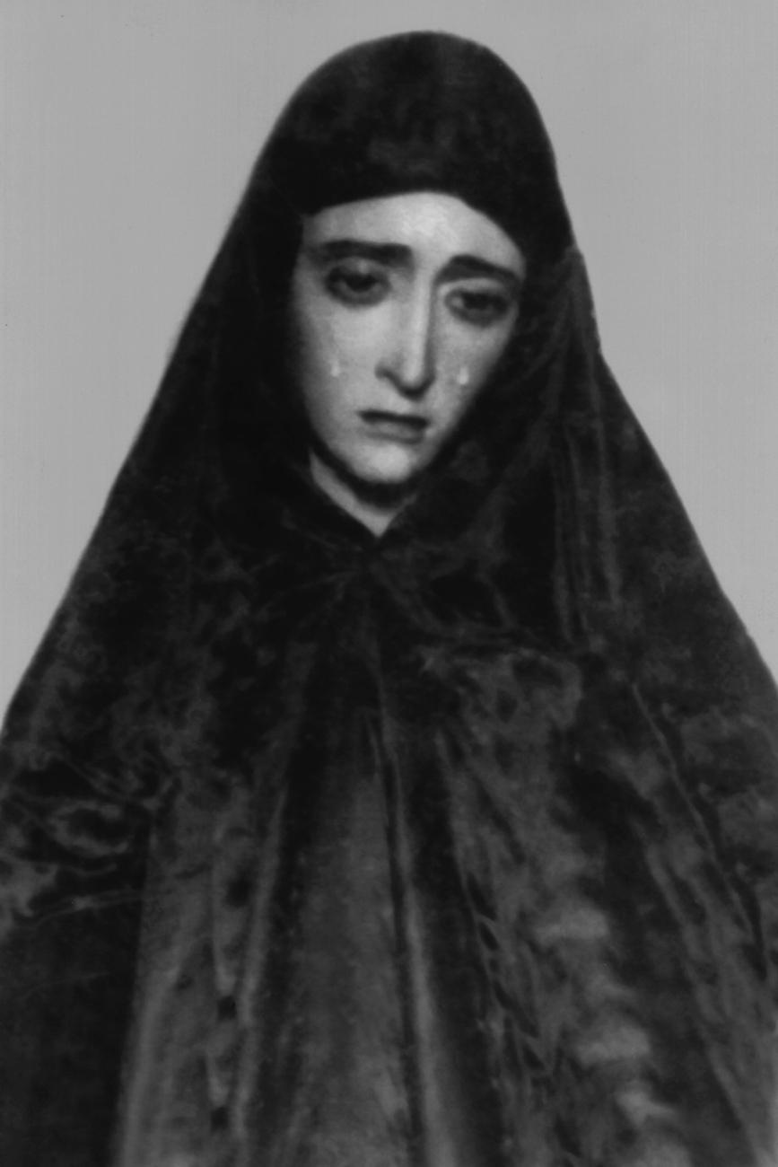34-1928-1-Primera foto de la Vírgen 1928. Posiblemente de esta forma se trasladó a la Capilla