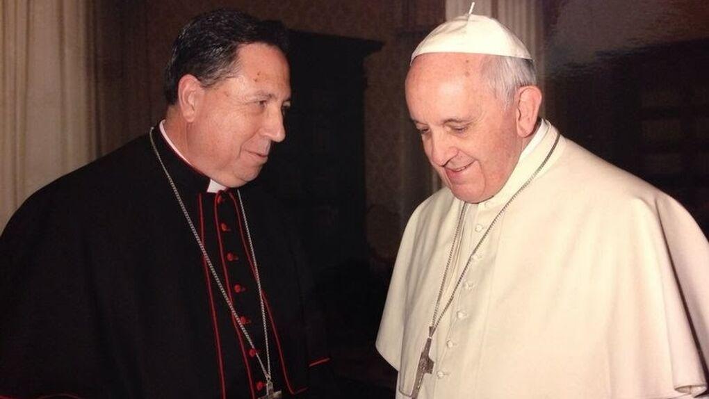 Arzobispo Castrense junto al Papa Francisco